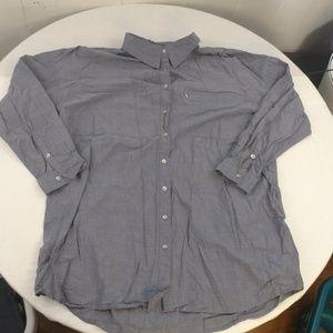 Apostrophe Chambray Button Up Size 20-22 W